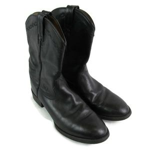 Ariat Black Leather Roper Western Boots